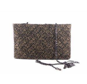 Cartera de mano acolchada E.Ferri Glamour leopard print