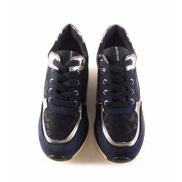 Zapatillas deportivas mujer DON ALGODON S302 azul marino