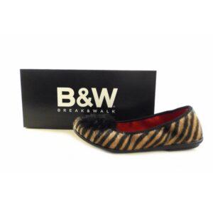 Bailarinas BREAK&WALK de pelo combinado leopardo y cebra