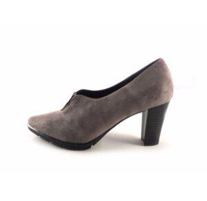 Zapatos de vestir con tacón Pasther piel ante color trufa