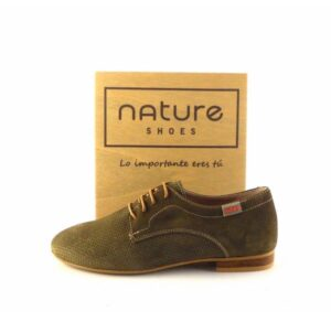 Zapatos blucher mujer NATURE SHOES London Forest verde