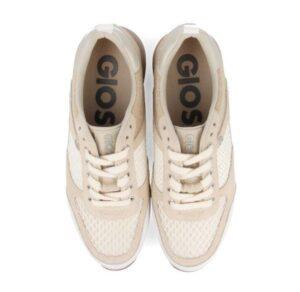 Sneakers mujer GIOSEPPO Anzac beige y blancas 58627