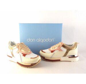 Zapatillas deportivas DON ALGODON combinadas con rosa