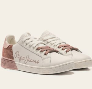 Deportivas mujer PEPE JEANS Brompton Sequins rosa