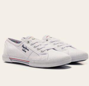 Zapatillas mujer tela PEPE JEANS Aberlady Basic blanco