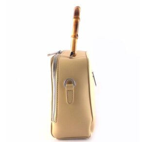 Bolso de mano con asa de madera Torrens rafia combinada