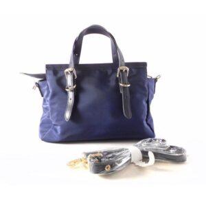 Bolso shopper de asas DON ALGODON nylon azul marino