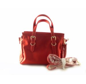 Bolso shopper de asas DON ALGODON nylon color rojo