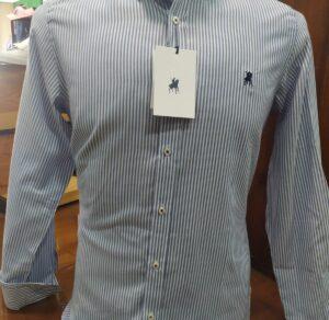 Camisa hombre LA JACA de rayas a dos tonos azul
