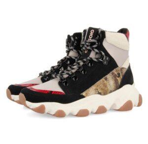 Sneakers tipo botín GIOSEPPO kotlas estilo chunky en blanco y negro