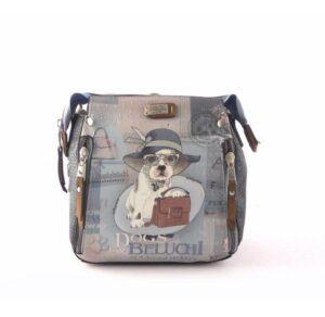 Bolso pequeño convertible en mochila DOGS BY BELUCHI azul