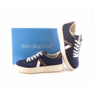 Zapatillas deportivas mujer DON ALGODON nylon azul marino/marrón