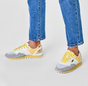 Zapatillas deportivas PEPE JEANS Bimba Mesh Sun amarillo y plata