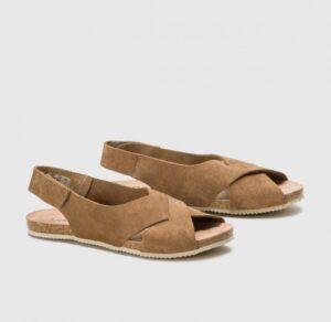 Sandalia plana piel YOKONO Oasis 075 color visón