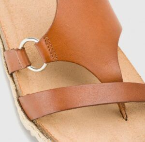 Sandalia de plataforma en piel YOKONO Chipre 021 marrón