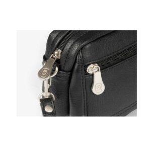 Bolso neceser mini MATTIES BAGS negro con asa de mano