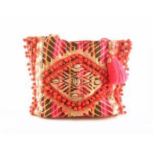 Bolso étnico E.Ferri multicolor textil