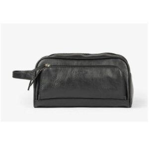 Neceser hombre MATTIES BAGS con cierre de cremalleras polipiel negro