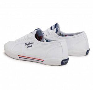 PEPE JEANS Zapatillas De Tela Aberlady Ecobass blanco