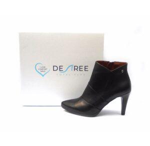 Botines mujer piel DESIREÉ Shoes punta y tacón fino color negro
