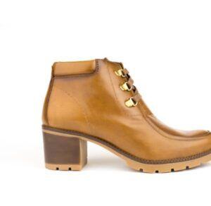 Botines de cordones con tacón Desireé Shoes cuero