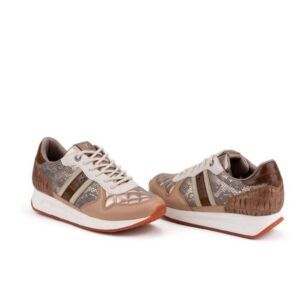 Sneakers mujer con cuña Yumas Camille color arena