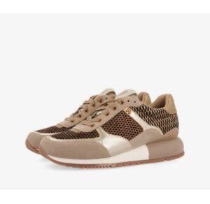 Sneakers mujer GIOSEPPO doradas con texturas y brillos Farsund