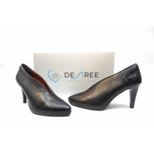Zapatos salón de tacón fino Desireé Shoes negro
